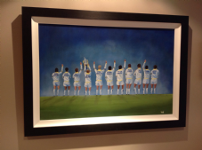 "Leeds United - Class of '72 - original FRAMED oil painting - on canvas board 20""x30"""